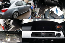 Car kit installation in a BMW 5 Series 54plate in Preston