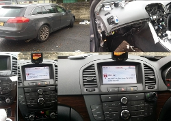 Mki 9200 car kit installed in a Insignia 2010