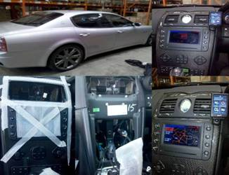 Bury 9068 Mucic Car Kit installation in a Maserati Quattroporte 58 plate in Manchester