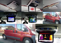 Roof Mounted Multimedia Player.